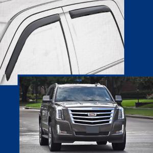 In-Channel Wind Deflectors Window Visors for 2015-2020 Cadillac ESCALADE ESV