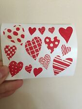 Mrs Grossman's Fancy Paper 'Every Day' Love Hearts  14 Stickers  Archival Cards