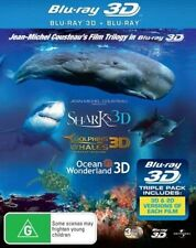 3d Blu-ray Sharks Dolphins and Whales Ocean Wonderland - Cousteau Trilogy