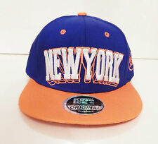 Nuevo Para Hombre Mujer Gorra Snapback Sombrero Vicera Azul Naranja Nueva York de logotipo de Béisbol Pico