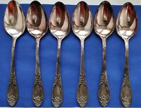 Vintage SILVER PLATED SET 6 table spoons Melchior cupronickel SOVIET. USSR