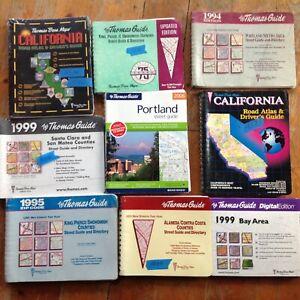 9 Thomas Bros Maps Thomas-Guides Some Calif. CO- Washington CO and Portland OR.