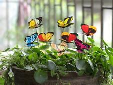 Ginsco 25Pcs Butterfly Stakes Outdoor Yard Planter Flower Pot Bed Garden Decor B