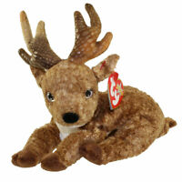 TY Beanie Baby - ROXIE the Reindeer (Black Nose) (7.5 inch) - MWMTs Stuffed Toy