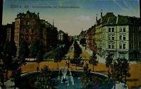 Feldpostkarte 1916, KöLN a Rh, Barbarossaplatz mit Hohenstaufenring, koloriert