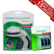 Dymo Omega Embossing Label Maker Or 3D Label White on Black Tape Single/Bundle