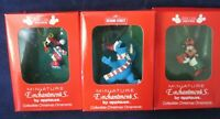 Mickey/Minnie Mouse Cookie Monster Miniature Enchantments Christmas Ornaments
