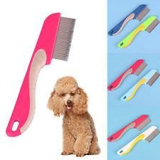 Pet Dog Cat Flea Comb Stainless Steel Pin Puppy Fur Hair Rake Brush Grooming Pop