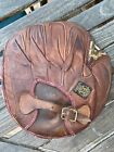 Vintage 1920's Antique Leather Catchers Mitt Baseball Glove Buckle Strap REACH