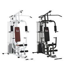 Gym Kraftstation Fitnessstation Multigym Fitnessgerät inkl. Gewichten Metall PU