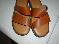 Authentic Genuine Leather Craft Sandal women's Debbie Brown 7.5M made in italy