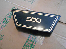 Yamaha XS500 XS 550 XS500E 1978 right side frame cover plastic panel black