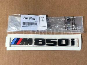 BMW Genuine G14 G15 G16 8-Series Cerium Gray Trunk Emblem M850i Lettering Badge