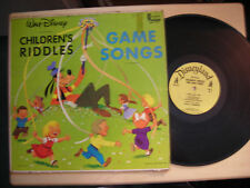 Walt Disney CHILDREN'S RIDDLES & GAME SONGS LP 1965