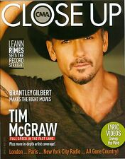 Tim McGraw cover CMA Close Up magazine  MINT 2013 carrie zaruba brantley gilbert