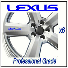 LEXUS  ALLOY / WHEEL DECALS - IS 200  LS400 - X6 !!! Adhesive Graphic decals