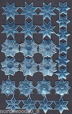 STAR CELESTIAL ASSORTMENT BLUE HALO FOIL PAPER EMBOSSED DRESDEN GERMAN ART