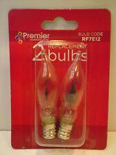Premier RF7E12, 1 x Pack of 2 Clear Spare Christmas Flicker Light Bulbs, E12