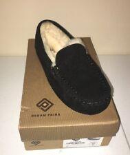 DREAM PAIRS Women's Auzy Sheepskin Winter Moccasins Slippers Black Size 11 US