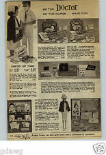 1962 PAPER AD Toy Medical Kit Ben Casey Dr Kildare Nurse Barbie Doctor Outfit