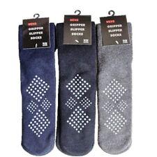 3 Pairs Of Men's  Slipper Socks, Non-Skid Cosy Gripper Socks, Winter Gift 6-11