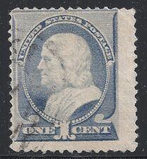 US Scott #212, Single 1887 Benjamin Franklin 1c AVG MH