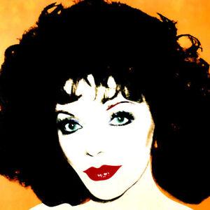 Andy Warhol Joan Collins Canvas Print 17 x 17   # 4142