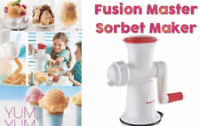 TUPPERWARE New FUSION MASTER SORBET MAKER SYSTEM Make healthy ice cream at home!