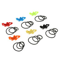 6pcs Fishing Rod Pole Hook Keeper Spoon Lure Bait Holder Tackle Accessories