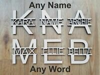 6 mm Thick MDF Wooden Name Letters Choice of Heights 10 cm to Large 60 cm