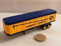 HOLZPRITSCHE AUFLIEGER ASG TRANSPORT SPEDITION H0 orange DDR Form 1:87 H0 Sattel
