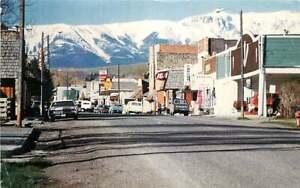 Postcard Street Scene in Absarokee, Montana - used 1993