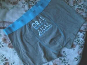 ANN SUMMERS GREY BOXER  ''ORAL MAKES MY DAY''  LTD STOCK SMALL ONLY #OFFER £6.99