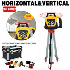 360 Automatic Self Leveling Red Beam Rotary Laser Level 500m 165m Tripod