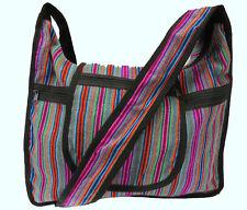 Studententasche gestreift Umhängetasche Peru Handtasche Hippie Studenten DinA 4