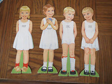 VINTAGE INTERNATIONAL SET OF 4 PAPER DOLLS WITH CLOTHES
