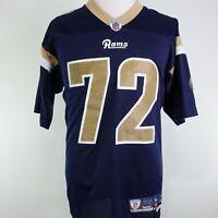 VTG REEBOK ST LOUIS RAMS CHRIS LONG #72 BLUE NFL STITCHED FOOTBALL JERSEY SZ M