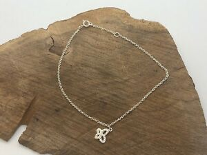 """STERLING SILVER BUTTERFLY ANKLET SIZE SMALL 10"""""""