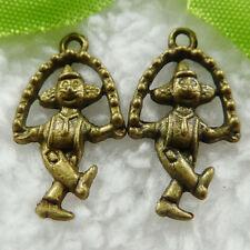 Free Ship 160 pcs bronze plated skip monkey charms 23x13mm #505
