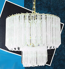 VENINI STYLE VINTAGE LUCITE CHANDELIER POSTMODERN RETRO 1980s NEW OLD STOCK