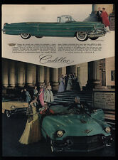1956 CADILLAC Convertible Car - BOSTON MUSEUM OF FINE ARTS - Bergdorf VINTAGE AD
