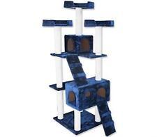 Cat Tree 7 Level 178cm Scratching Post Plush Material - Blue