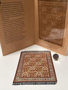 Vintage NOS FINE Woven Silk Rug Franklin Mint Dollhouse Miniature 1:12