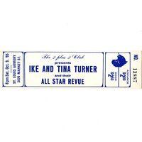 IKE & TINA TURNER Concert Ticket Stub ST LOUIS 10/9/65 RIVER DEEP MOUNTAIN HIGH