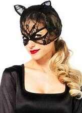 Bedroom Kinky Kitty Lace Up Back Full Lace Trim Cat Mask Accessory Adult Women