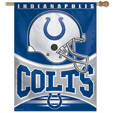 """NFL INDIANAPOLIS COLTS HELMET POLYESTER 27"""" X 37"""" VERTICAL HANGING FLAG"""