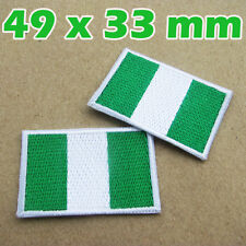 1 X Nigeria Flag Embroidered Patch Nigerian Iron On National Emblem West Africa