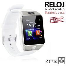 2018 DZ09 Telefono Reloj Inteligente SmartWatch para Android IOS SIM gris blanco