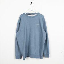 Vintage COLUMBIA Small Logo Sweatshirt Jumper Blue | XL
