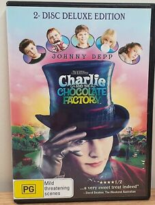 Charlie and the Chocolate Factory DVD Region 4  Johnny Depp FAST DISPATCH